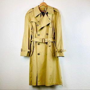 Vtg Gleneagles American Traveler Trench Coat, 44R
